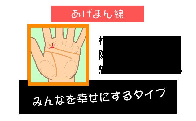島田秀平の手相占い:あげまん線